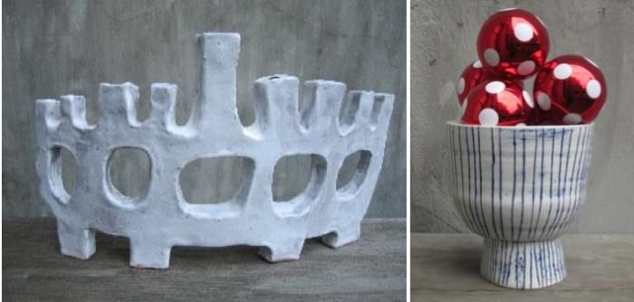One of our clever readers clued us in to Paula Greif's handmade menorah, which reminded us how much we like the work of this Brooklyn-based ceramicist.