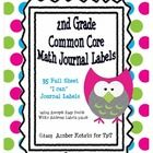 Each 2nd Grade Common Core Standard has a full sheet of 30 journal labels.  Print each sheet on Avery® Easy Peel® White Address Labels for Laser Pr...