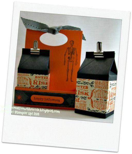 halloween mini milk cartons - Halloween Cartons