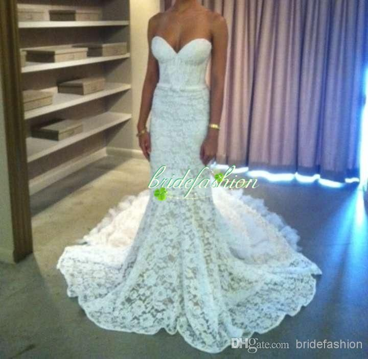 Cheap Bridal Sashes - Discount Mermaid Sweetheart Church Wedding Long Length Sweep Train Online with $154.81/Piece | DHgate