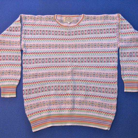 Edina Ronay for Edina and Lena Fair Isle Hand Knit by JackieSpicer