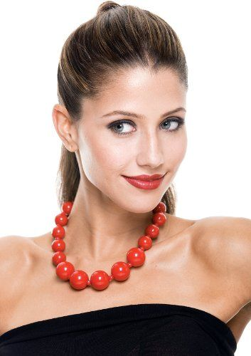 Paper Magic Women's #French #Kiss Beaded #Necklace, #Red, $6.39 http://www.mysharedpage.com/paper-magic-womens-french-kiss-beaded-necklace-red-one-size