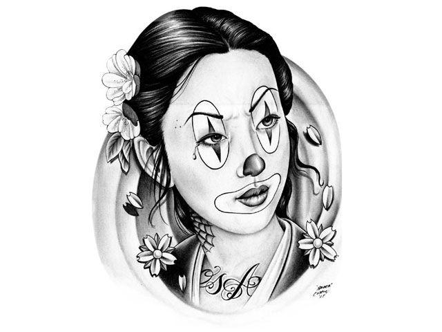 Clown Tattoo Designs | clown tattoos pictures 7711 clowns tattoo design, art, flash, pictures ...