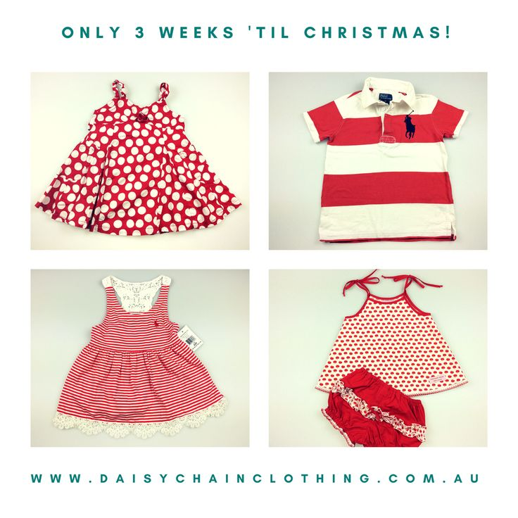Feeling festive in red & white! Christmas inspired colours from our pre-loved clothing collection. SPROUT toddler girl's cotton dress, size 1, good used condition, $12. POLO by Ralph Lauren boy's t-shirt, size 6, good used condition, $12. POLO by Ralph Lauren toddler girl dress, size 2, BNWT, $32. LITTLE BROWN MOUSE swing top & bloomer set, size 0 (6-12 months), excellent used condition, $14.