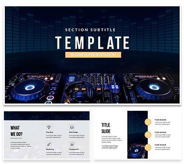 DJ mixer player PowerPoint templates | ImagineLayout.com