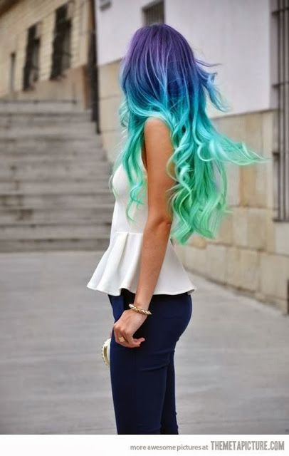 Blue/Green Ombre.
