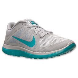 Women's Nike Free 4.0 V4 Running Shoes | FinishLine.com | Wolf Grey/Turbo