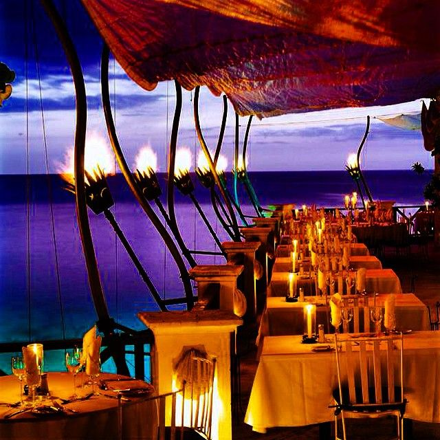 The Cliff Restaurant, Barbados. Photo courtesy of fvlifestyle on Instagram.