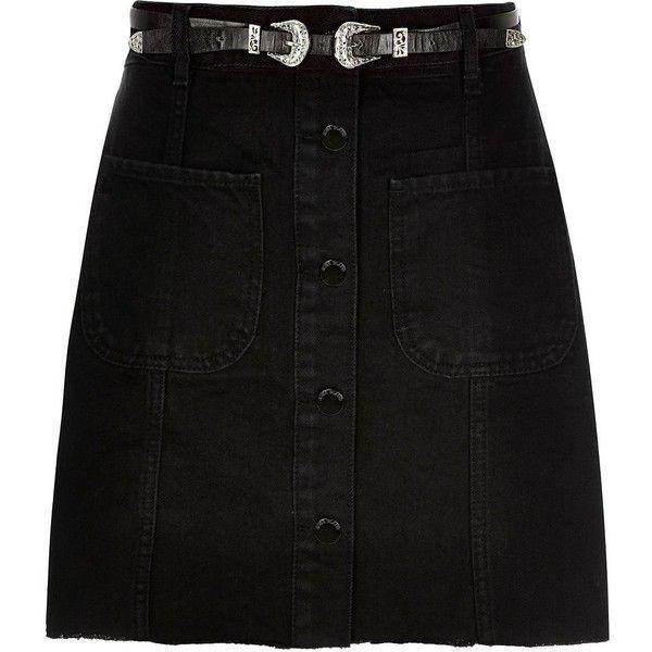 Best 25  Button down denim skirt ideas on Pinterest   Denim skirt ...