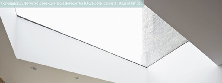 Future-proof with hidden box for potential installation of concealed blinds