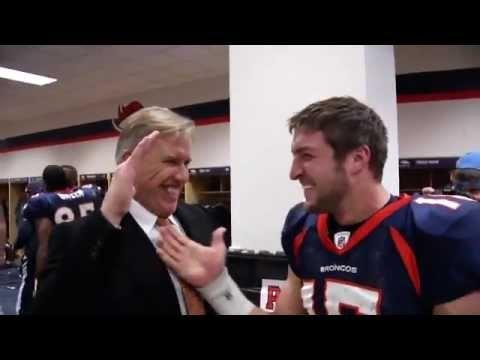 Denver Broncos Postgame after beating the Steelers on AFC Wildcard Weekend