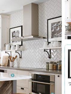 beveled subway tile backsplash herringbone google search - White Subway Tile Backsplash