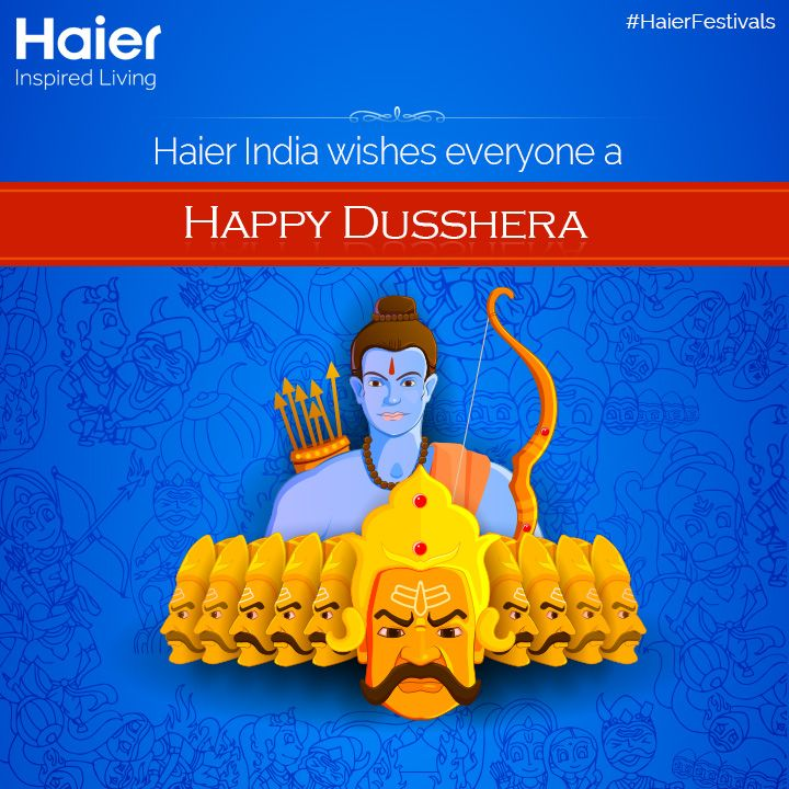 #HaierIndia wishes everyone a #HappyDusshera.   #HaierFestivals  #India #Festivals #IndianFestivals #Happiness #Celebrations #IncredibleIndia