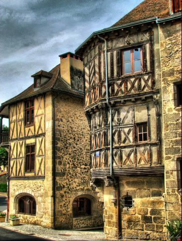 Thiers - Old houses - Puy de Dôme dept. - Auvergne région, France