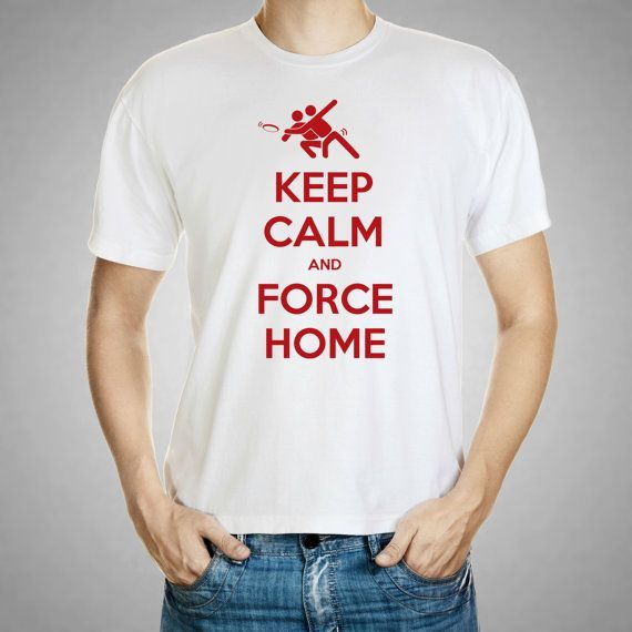 Ultimate Frisbee t shirt, Keep Calm and Force Home Ultimate Frisbee Men's…