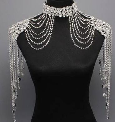 Bridal Couture wedding choker and shoulder piece