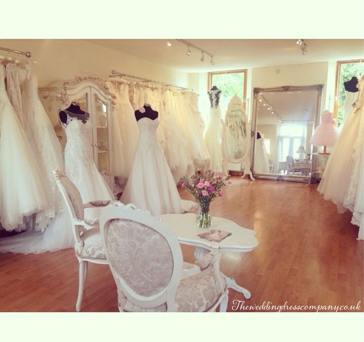 The wedding dress company in Corbridge bridal boutique near Newcastle and Hexham. North east England with shabby chic pretty decor