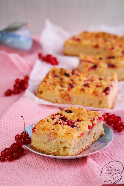 Wonder Wunderbare Küche: Johannisbeer-Vanille-Kuchen vom Blech