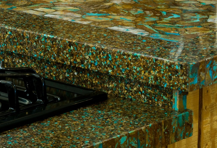 Beautiful Handcrafted Boulder Turquoise Countertop The