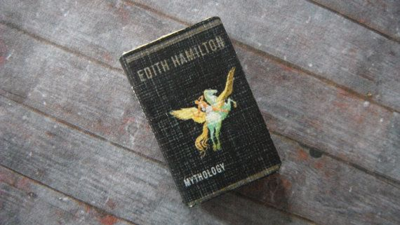 Miniature Book  Edith Hamilton's Mythology by LDelaney on Etsy, $4.50