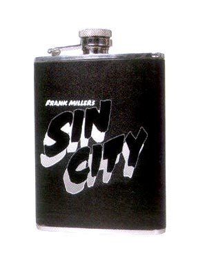 Sin City Flask by NECA. $9.99. Enjoy your favorite beverage in this stylish Sin City flask. The flask is well made and include a funnel. It features a Sin City logo across the front. Our lawyer has informed us that to comply with California Law, we are required to show the following warning on glassware and ceramic products. We do not believe that our products contain lead or any other hazardous materials. Nontheless... Warning: This product contai...