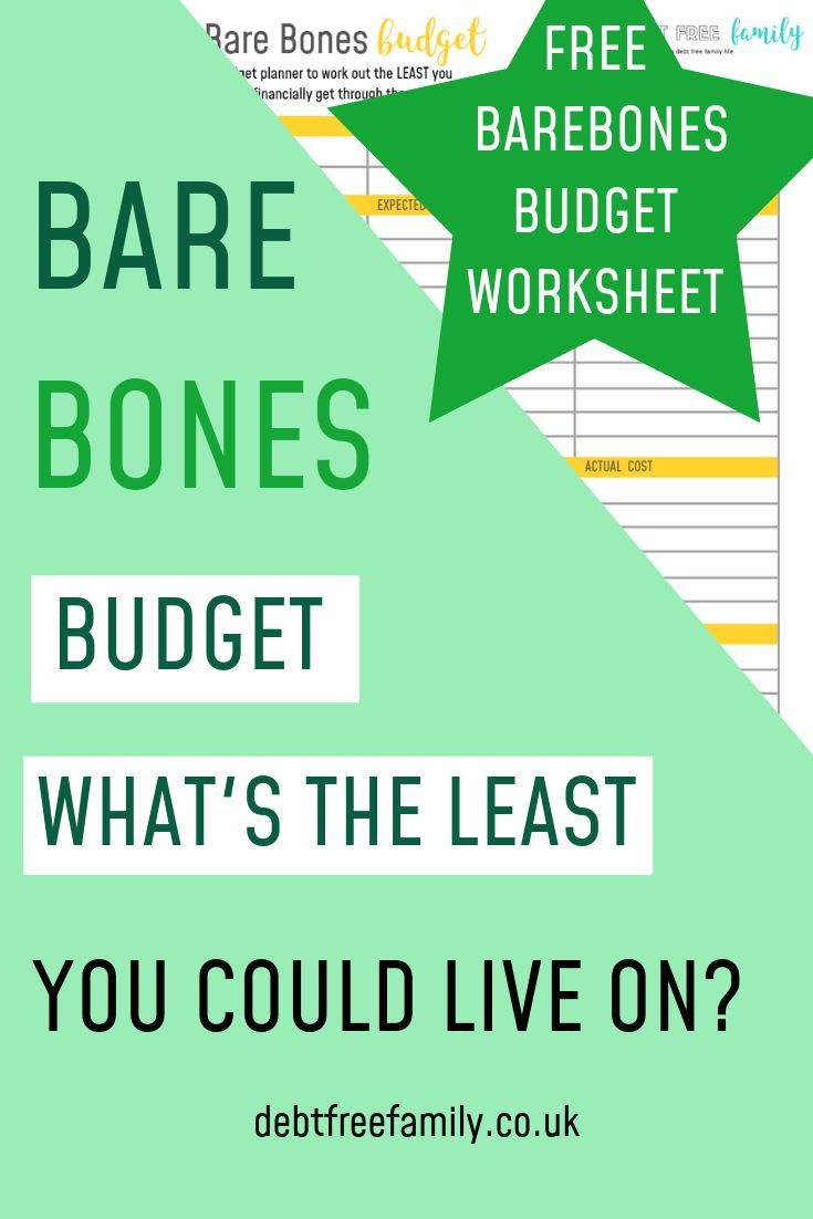 Find Your Minimum Living Costs With Our Bare Bones Budget Worksheet If You Re Looking To Work Out How Much Budgeting Worksheets Budgeting Saving Money Budget