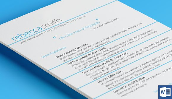 Strings Resume Template by @Graphicsauthor