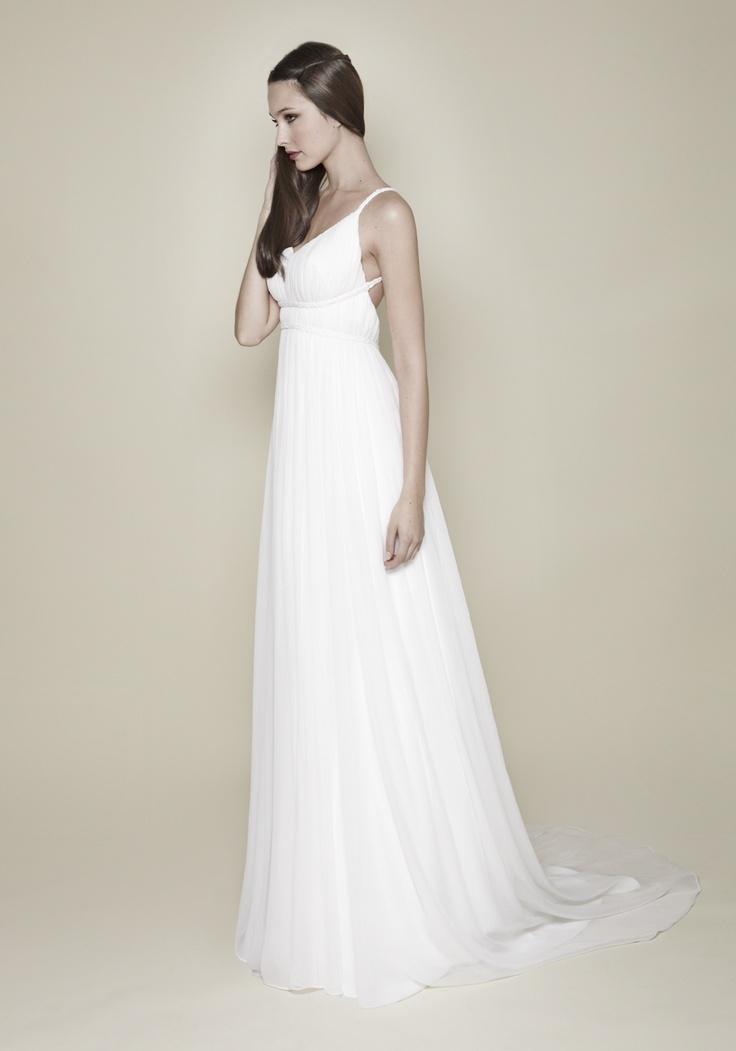 Christos Costarellos Silk Chiffon Ancient Greek Wedding Dress