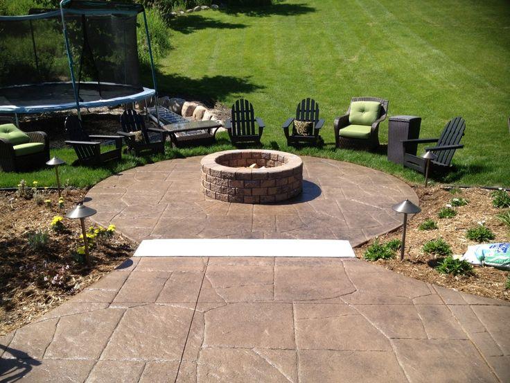 23 best patio designs images on pinterest | patio ideas, backyard ... - Concrete Patio Designs With Fire Pit