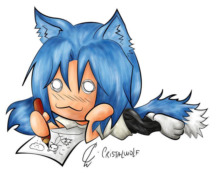 Caricatura Cristalwolf Chibi