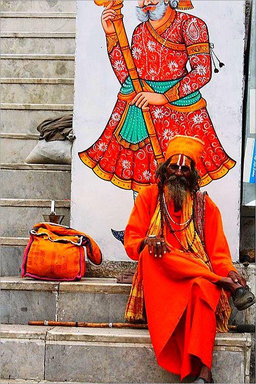 A monk at Jagdish Temple, Udaipur