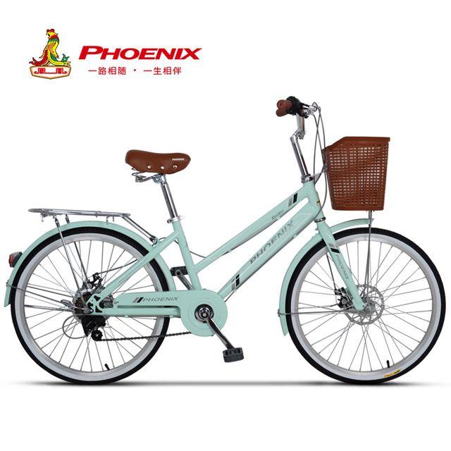 Phoenix 24 26 Women Bike Road Bikes Retro Bike Ladies Bicycle Bicicleta Aluminium Double Disc Brake Bisiklet Bicicleta Retro Bike Bicycle Women Womens Bike