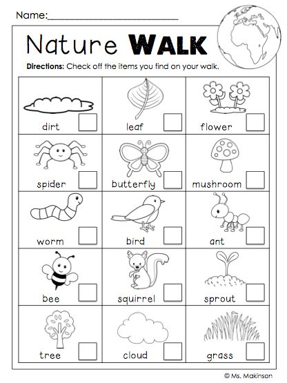 FREE Earth Day Printable. Nature Walk Scavenger Hunt