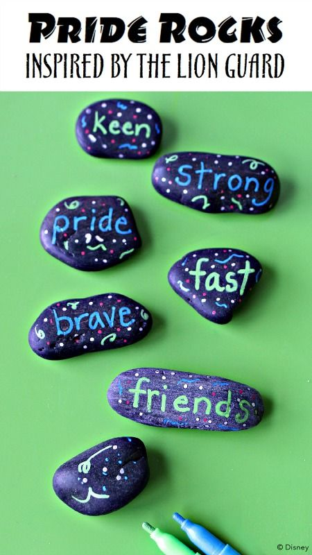 Pride Rocks Craft for Kids Inspired by Disney Junior's The Lion Guard