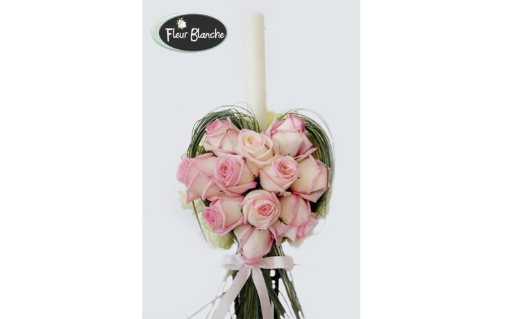 Coeur Rose - o inima din trandafiri ce simbolizeaza dragostea eterna  http://www.florariafleurblanche.ro/produs/lumanare-de-nunta-coeur-rose