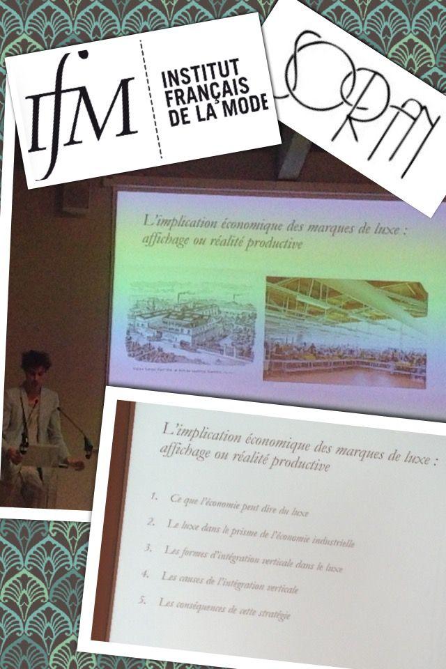 Conférence de Franck Delpal, à l'Institut Francaise de la Mode sur L'économie du Luxe.