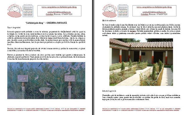 apARTe: Atelier reconstituire gradina romana