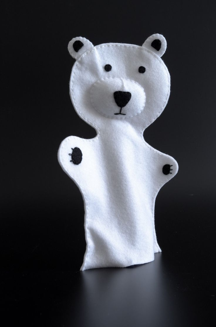 A personal favourite from my Etsy shop https://www.etsy.com/listing/272964292/white-bear-puppet