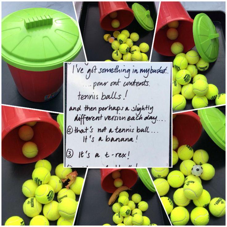 Tennis in a bucket