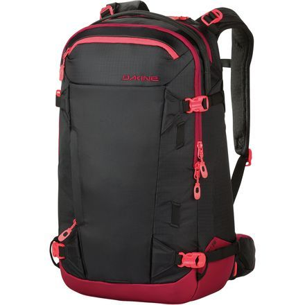 The best lines require a little extra effort and gear, so get it all there as comfortably as possible with the Dakine Women's Heli Pro II 28L Backpack. This moderately sized version of Dakine's ever popular Heli Pro pack carries everything you'll need when you venture outside of the resort while maintaining a comfortable fit and feel when you ride. The pack's women-specific fit consists of S-curved shoulder straps, a narrow shoulder width, and a shorter back length to match a woman's torso…