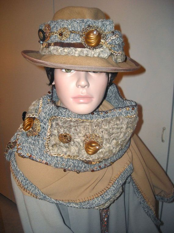 Stola lana  con pelliccia astrakhan di atmosferedipuglia su Etsy