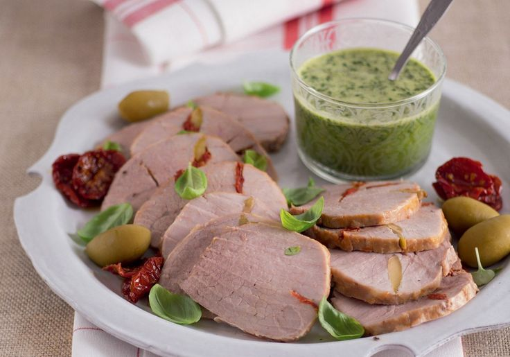 Arrosto con olive e pomodori secchi ricetta