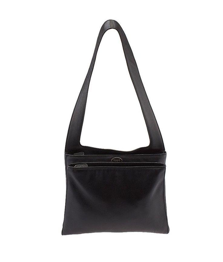 Tod's Black Leather Shoulder Bag