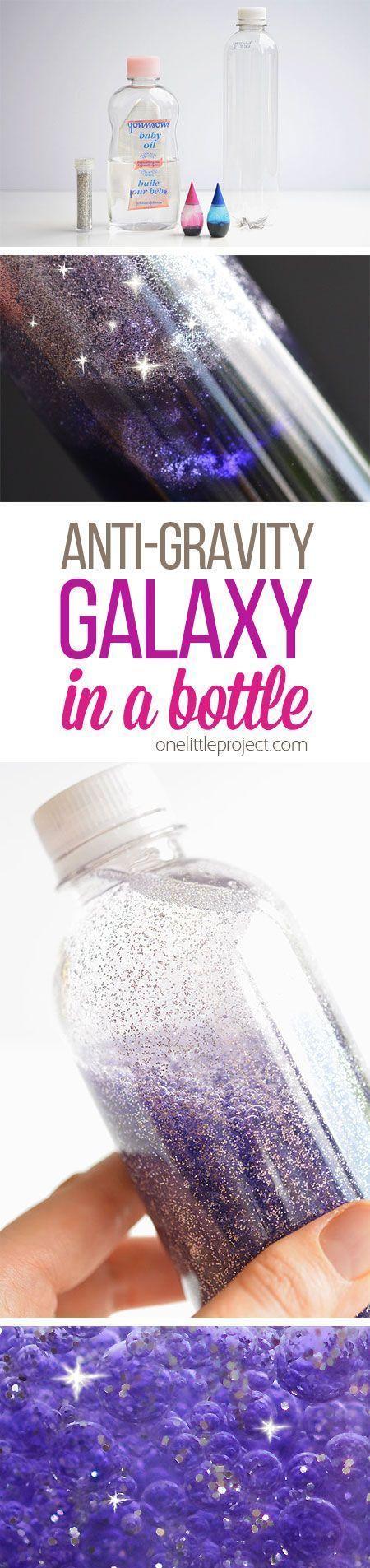 Fidget bracelet with built in marble maze by dejong dream house - Anti Gravity Galaxy In A Bottle