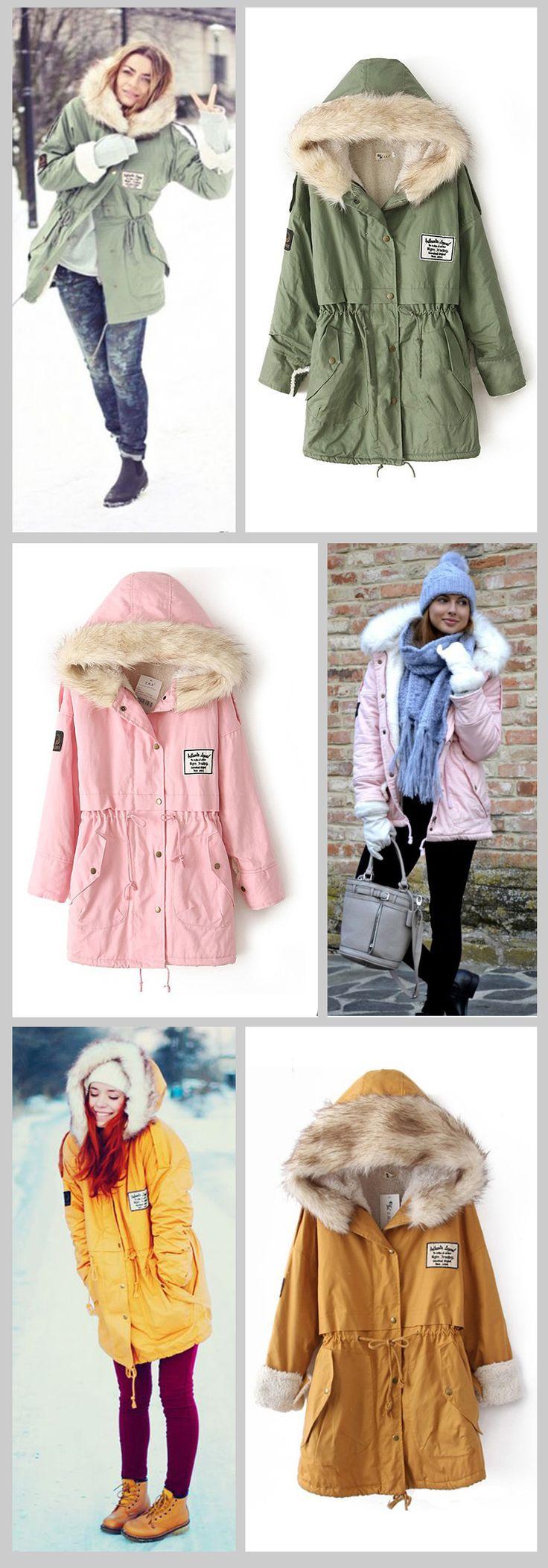 Special offer new 2015 winter coat women clothing coat women outwear; parkas Two wearing hooded fur collar