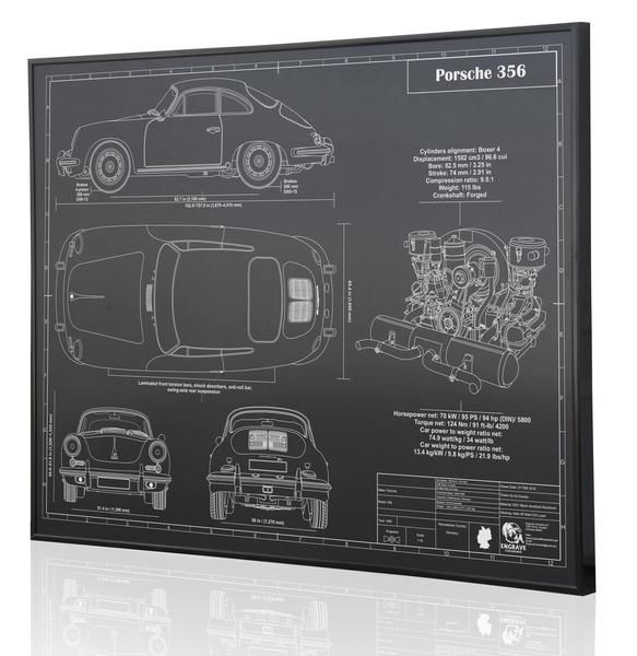 17 best images about porsche 356 cars porsche porsche 356 blueprint artwork diagram on anodized aluminum