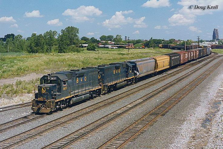 The Baltimore and Ohio Railroad had very busy lines all over ohio...Benwood to Lorain ran 10-12 coal units/day...line torn out in 1990...