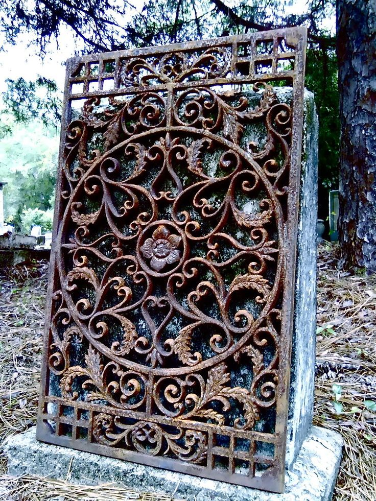 "New Orleans Grate #7 French Quarter Iron vent register victorian 28"" x 18"" gate"