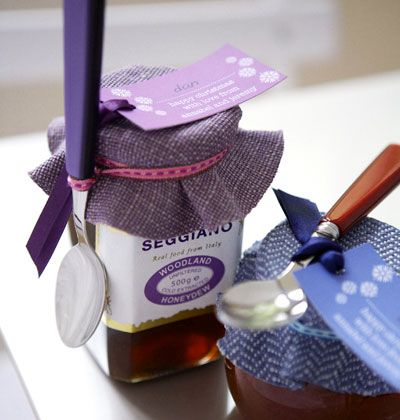 Jarring Idea    Dress up a jar of preserves or jelly with a fabric cover and a pretty spoon.