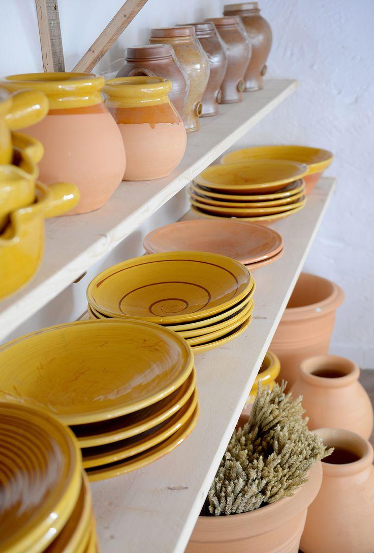 """Poterie Ravel"" (France).  2017 Argilla. Aubagne. France. International pottery fair. Earthenware. Plates. Garden jars. Pots"